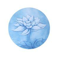 farbkissen tragbar großhandel-Mandala Meditation Pad Naturkautschuk Rund Farbe Mix Yoga Matte Druck Rutschfeste Tragbare Zazen Sit Teppiche