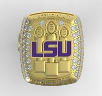 Wholesale selling wedding rings resale online - Pre sell personal collection LSU NATIONAL CHAMPIONSHIP RING Fan Men Gift with Collector s Display Case