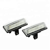 Wholesale car nissan murano online - Pair V Car License Plate Light Number Plate Lamp Clear Lens K for Nissan TEANA TIDDA D MURANO CROSSCAB Altima