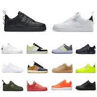 черные дизайнерские туфли для мужчин оптовых-Nike Air Force 1 AF1 Just do it Stock X Cheap High Low Cut utility black 1 Running Shoes Classic Men Women Skateboarding 1s White Wheat Trainer sports Designer Sneakers