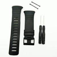 черный pvd пряжка оптовых-Мужские наручные часы T-AMQ 35 мм, подходящие для стандартного ремешка Suunto Core. Весь черный ремешок для часов с пряжкой PVD / ремешок + застежка винт + инструмент