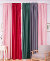Wholesale Customize Blackout Window Curtain Room Decoration Curtain String for Wedding Party Door Solid Color Covers Living Room Curtain H129