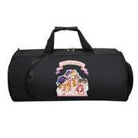 çanta japonya anime toptan satış-Japonya anime LoveLive Seyahat Çantası gençler Çok Fonksiyonlu Büyük Kapasiteli çanta Erkek Kadın El duffel Seyahat bagaj Paketi