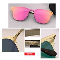 neue art sonnenbrille großhandel-2019 NEW DESIGN Ultraleichte Metall Sonnenbrille Männer Frauen Driving Blaze Stil Sonnenbrille Männliche Goggle UV400 Spiegel Blitz Gafas De Sol Gafas