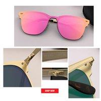 nuevas unidades flash al por mayor-2019 NUEVO DISEÑO Ultraligero gafas de sol de metal Hombres Mujeres Estilo de blaze Gafas de sol Gafas masculinas UV400 espejo de flash Gafas De Sol gafas