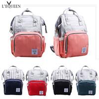naylon çanta taşımak toptan satış-Moda Büyük Kapasiteli Naylon Bebek Çantası Seyahat Sırt Çantası Su Geçirmez Hemşirelik Çantası Bebek Anne Sırt Çantası Kadınlar için Taşıma Bakım Çanta # 222420