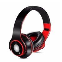 micro écouteur coloré achat en gros de-Livraison gratuite coloré stéréo Audio Mp3 Bluetooth Headset Casque sans fil Écouteurs support carte SD avec jeu de micro 10 heures