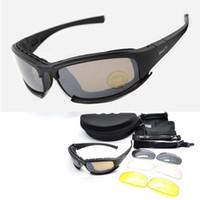 солнцезащитные очки uva uvb оптовых-C5 Army Goggles Desert Storm 4 Объектива Спорт На Открытом Воздухе Охота Солнцезащитные Очки Anti Uva Uvb X7 Поляризованные Военные Игры Мотоцикл Glasse