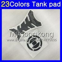 pegatinas k3 al por mayor-Fibra del carbón 3D del cojín del tanque para SUZUKI GSXR1000 03 04 05 06 GSXR 1000 GSX R 1000 K3 K5 2003 2004 2005 MY156 Tanque de gas tapa protectora de pegatinas