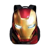 ingrosso borse da scuola elementare per ragazze-Sacchetto del fumetto dei bambini di nuovo modo Iron Man Sacchetto di scuola primaria di personalità di stampa della scuola materna Zaino della ragazza del ragazzo della spalla