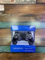 dhl jogos jogar grátis venda por atacado-Controlador sem fio Bluetooth para P S4 Vibration Joystick Gamepad Game Controller para Sony Play Station com caixa de varejo grátis DHL Shipping