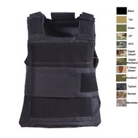 Wholesale assault tactical carrier vest resale online - Outdoor Sports Outdoor Camouflage Body Armor Combat Assault Waistcoat Tactical Molle Vest Plate Carrier Vest SO06