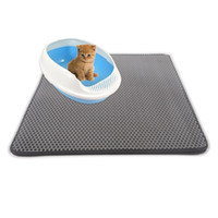 Wholesale multi color bedding online - Double Layers Cat litter mats Waterpoof pads Trapper Mats Easy Clean Nonslip Collect Sands for Protect Floor Carpet cats care tools LJJQ115