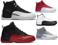 Hot selling High Quality Men 12s basketball Shoe Winterized WNTR Gym Red Michigan Bordeaux 12 white black The Master Flu Game taxi sports sneaker Shoes