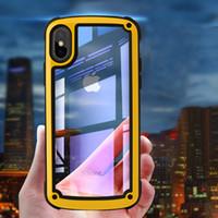caso do tpu da cor do iphone dois venda por atacado-Para IPhone 6 7 8 Plus Jelly Phone Case XS Max XR duas cores Militar Case-resistentes Shatter Trabalho para IPhone 11 RRO Max