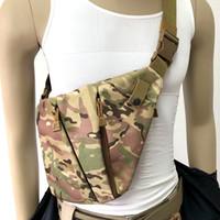omuz çantaları toptan satış-Çok fonksiyonlu Gizli Taktik Depolama Gun Kılıf Sling Çanta Erkekler Crossbody Sırt Çantası Anti-hırsızlık Rahat Omuz Çantası Avcılık Göğüs Çantası