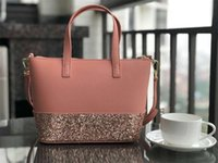 Wholesale glittering purses for sale - Group buy new brand designer glitter shining crossbody bags handbags Shoulder bag colors small size pu patchwork purse totes