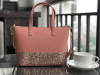 çanta örtüsü toptan satış-Yeni marka tasarımcısı glitter parlayan crossbody çanta çanta Omuz çantası 3 renkler küçük boy pu patchwork çanta kılıf
