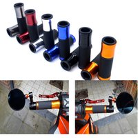 Wholesale red motorcycle grips for sale - Group buy 1 Pair quot mm Universal CNC Aluminum Rubber Motorcycle Handle Grips Red Blue Gold for TMAX