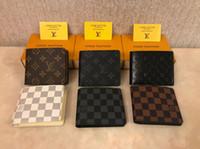 Wholesale men wallets online - Men Wallets Brand High Quality Design Wallets with Coin Pocket Purses Gift For Men Card Holder Bifold Male Purse
