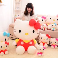 Wholesale valentines stuffed animals online - 2019 new arrival KT cat plush toy Stuffed Animals Hello Kitty dolls girl pillow toys Valentine gift