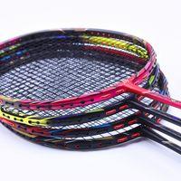 raket dizeleri toptan satış-4U raketi profesyonel saldırgan badminton raketleri T700 karbon dize ile 4 renk badminton Raket 24-32 LBS