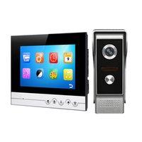 ingrosso campana porta lcd-Video Citofono Color 7 '' Schermo LCD Wired Video Citofono Audio Citofono con 700TVL CMOS Campanello per porte V70Rm-M4
