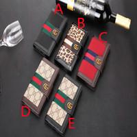samsung clamshell telefon großhandel-Mode lanyard leopard handy case für iphone x xr xs max handy case clamshell design für iphone 6 6plus 7 7plus 8 8plus case