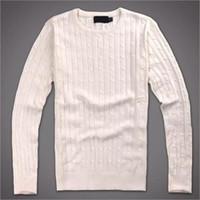 blusas de pescoço de algodão para mulheres venda por atacado-Polo 8Ralph Lauren Mens Camisolas pulôver Pony camisola Tricô bordados camisola camisola Inverno Womens roupa do pescoço de grupo sweate algodão