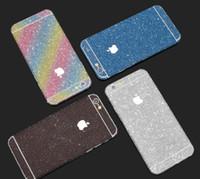 elma çıkartmaları dekal toptan satış-İYİ Glitter Bling Parlak Tüm Vücut Sticker Mat Cilt Ekran Koruyucu for7 7plus 6 6S artı iphone x xr max Ön Arka çıkartmaları