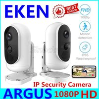 ip перезаряжаемая камера оптовых-Оригинального Eken Argus 1080P Full HD перезаряжаемые Открытые батарейки IP65 камера безопасность App управления IP видео Водонепроницаемой WiFi IP-камеры