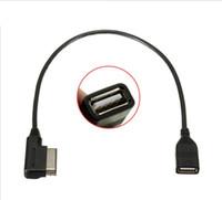 cable adaptador usb audi al por mayor-Media-in Cable adaptador USB Adaptado Audi AMI MMI VW Skoda SuperB MDI USB coche Audio MP3 Interfaz de música Adaptador A3 Golf MK7 MK6