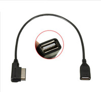 audi usb adapter kabel groihandel-Medien-in USB-Adapterkabel Fit Audi AMI MMI VW Skoda SuperB MDI USB Auto Audio MP3-Musik-Schnittstelle Adapter A3 Golf MK7 MK6