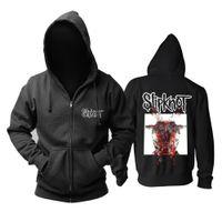 calaveras de metal negro al por mayor-Zombie panda Slipknot All Out Life álbum Alternative Metal sudadera con cremallera negra