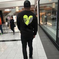crânio hoodies homens venda por atacado-20FW Luxury European Heart Shaped da camisola do crânio de alta qualidade bordado High Street Hoodies Casal Mulheres Homens Designer Hoodies HFKYWY039