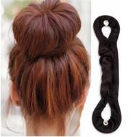 Wholesale magic hair bun roller for sale - Group buy 1PC Fashion DIY Women Magic Twist Bun Roller Hair Braider Braid Holder Clip Hair Soft Hairband Balck Braiding Tool