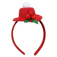 Wholesale party top hat decorations resale online - 2pcs Top Hat Headband For Christmas Party Decoration Christmas Costume Hair Accessories For Women Hairband