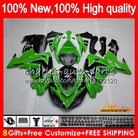 Wholesale zx ninja resale online - Body For KAWASAKI ZX R ZX ZX R Bodywork HC ZX1000 CC ZX10R stock green hot ZX CC ZX R Fairing kit
