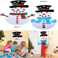 Wholesale other accessories for sale - Group buy DIY Felt Christmas Snowman Ornaments Christmas Gifts New Year Door Wall Hanging Xmas Decoration Kids Manual Accessories dc875
