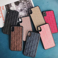 Wholesale luxury smartphone cases online – custom Luxury English alphabet D Brand Back Shell Cover for IPhone X XS Max XR P P s Plus Smartphone Anti shock Case