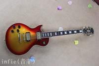 Wholesale electric guitar left handed sunburst resale online - Hot selling Left handed Guitar Guitar Strings Electric Guitar