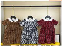 mini falda coreana chicas al por mayor-Nueva falda de algodón de princesa coreana para niñas en primavera y verano en Europa y América en 2019