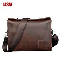 ingrosso borse da spalla europee-LISM europea E Spalla Messenger Bag Luxury Bags sacchetto di alta qualità American Boutique Uomo Vintage doppio Twist Lock design