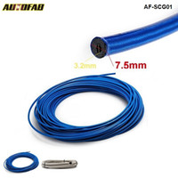 Wholesale stainless steel braid hose resale online - 50M Auto Stainless Steel Braided hoses Fuel Oil Line Hose For Handbrake Hose track drift racing Blue Silver AF SCG01