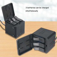 Wholesale gopro housing case for sale - Group buy 3 slot Battery Charger LED Charging Box Carry Case Battery Housing for GoPro Hero Black Hero Accessories