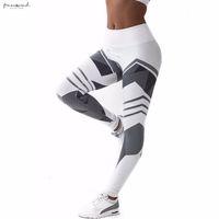 pantolon kadın gotik toptan satış-Bel Yüksek Spor Tozluklar Kadınlar Kalça Seksi Pantolon Push Up Yüksek Stretch Skinny Kalem Pantolon Jegging Gotik Leggins Legins