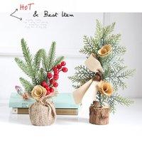 mini plantes en pot artificielles achat en gros de-Arbre de Noël de fenêtrage Mini arbre de Noël artificiel Plante en pot Scènes Prendre des dispositions pour Noël DecorationsT2I5627