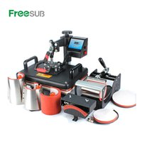Wholesale mug press machine resale online - Cheap in Combo Heat press Machine Sublimation Printer D Heat Transfer Machine for Cap Mug Plate Tshirts CE Approved