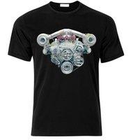deux turbos achat en gros de-V8 HEMI TWIN TURBO MOTEUR CAMARO MUSTANG CHALLENGER SHELBY GT T-shirt taille S-XXL 2018 New Fashion T-shirt Marque