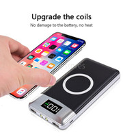 Wholesale iphone lighting power bank for sale – best Powerbank Dual Usb Wireless Power Bank mah Wireless Charger Powerbank Bateria External Portable With Led Light For Iphone X CSK2